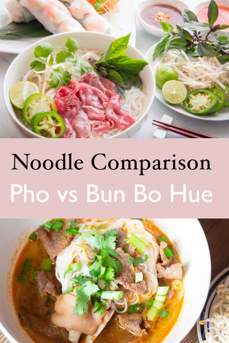 difference between pho and bun bo hue