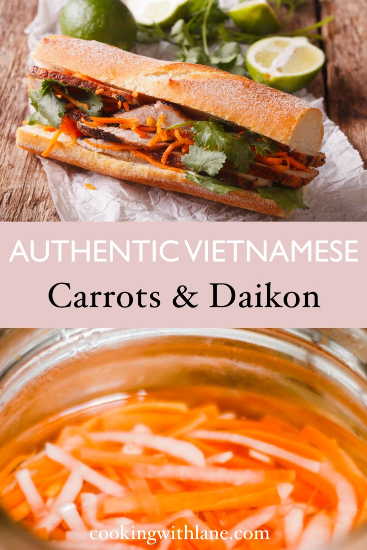 pickled daikon and carrots vietnamese banh mi